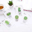 povoljno Držači za olovke i fascikli-1 pc kaktus samoljepljive bilješke 30 stranica (slučajna boja)