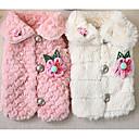 povoljno Odjeća za psa i dodaci-Pas Kaputi Zima Odjeća za psa Obala Pink Kostim sintetički Cvjetni / Botanički Ležerno / za svaki dan XS S M L XL