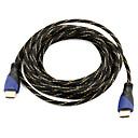 ieftine HDMI-Cablu HDMI de mare viteză suport 1.4V 3d pentru HDTV inteligent condus, Apple TV, DVD Blu-ray (5 m)