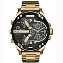 ieftine Ceasuri Bărbați-Bărbați Ceas de Mână Supradimensionat Oțel inoxidabil Negru / Auriu Calendar Creative Zone Duale de Timp  Analog Charm Lux Clasic Casual Atârnat - Roz auriu Negru / Argintiu Argintiu / Albastru Doi