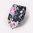 رخيصةأون ربطات عنق-ربطة العنق ورد رجالي - طباعة ملابس برقبة