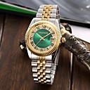 ieftine Ceasuri Damă-Bărbați Pentru femei Ceasuri de lux Ceas Brățară Ceas de Mână Japoneză Quartz Oțel inoxidabil Argint / Auriu Rezistent la Apă Calendar Creative Analog Charm Lux Sclipici Clasic Casual - Negru Verde