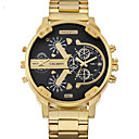 رخيصةأون ديكورات خشب-WEIDE رجالي ساعة المعصم ياباني كوارتز ستانلس ستيل ذهبي 30 m / مماثل كاجوال - أبيض أسود