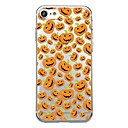 voordelige Huawei Honor hoesjes / covers-hoesje Voor iPhone 7 / iPhone 7 Plus / iPhone 6s Plus iPhone SE / 5s Transparant / Patroon Achterkant Tegel / Halloween Zacht TPU