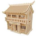 povoljno Narukvice-3D puzzle Puzzle Drveni modeli Poznata zgrada Kuća drven Prirodno drvo Uniseks Igračke za kućne ljubimce Poklon