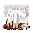 povoljno makeup seta četka-Msq 15 kom kozmetičke četke postaviti umjetne kose make-up četke kozmetički četkica set s osjetljivim bijelim uzorcima PU slučaj