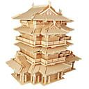 رخيصةأون 3D الألغاز-قطع تركيب3D تركيب مجموعات البناء بناء مشهور اصنع بنفسك خشبي الخشب الطبيعي كلاسيكي استايل صيني للأطفال للجنسين ألعاب هدية
