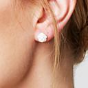 povoljno Naušnice-Žene Sitne naušnice Cvijet jeftino dame Osnovni Simple Style Moda Plastika Naušnice Jewelry Pink Za Vjenčanje Party Dar Dnevno Kauzalni Maškare