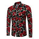 povoljno Muški satovi-Majica Muškarci - Vintage Dnevno / Izlasci Cvjetni print Slim, Print Obala / Dugih rukava