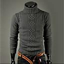 povoljno Muški džemperi i kardigani-Muškarci Dnevno / Izlasci / Rad Ulični šik Jednobojni Dugih rukava Slim Regularna Pullover Džemper od džempera, Dolčevita Zima Svijetlosiva / Tamno siva M / L / XL / Vikend