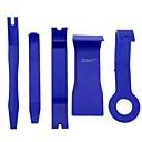 رخيصةأون أدوات إصلاح-زيكياو 5 قطع الأزرق اللون دي البلاستيك سيارة راديو السيارات الباب كليب لوحة تقليم داش إزالة الصوت حدق كيت الأدوات