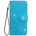 رخيصةأون حافظات / جرابات هواتف جالكسي A-غطاء من أجل Samsung Galaxy Note 5 / Note 4 / Note 3 محفظة / حامل البطاقات / مع حامل غطاء كامل للجسم زهور قاسي جلد PU
