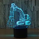 ieftine Lumini Nocturne LED-1set 3D Nightlight USD Touch Sensor / Schimbare - Culoare Artistic / LED