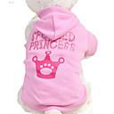 povoljno iPhone maske-Mačka Pas Kostimi Hoodies Odjeća za psa Jednobojni Pismo i broj Crvena Pink Pamuk Kostim Za Proljeće & Jesen Ljeto Muškarci Žene Cosplay Kamado roštilj Vjenčanje