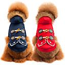 رخيصةأون ملابس وإكسسوارات الكلاب-كلب المعاطف الشتاء ملابس الكلاب متنفس أحمر أزرق كوستيوم قطن لون سادة كاجوال / يومي موضة S M L XL XXL