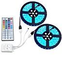 ieftine Becuri LED Corn-10m Bare De Becuri LED Rigide 600 LED-uri RGB Telecomandă / Ce poate fi Tăiat / Intensitate Luminoasă Reglabilă 12 V / De Legat / Auto- Adeziv / Schimbare - Culoare / IP44
