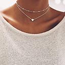 povoljno Modne ogrlice-Žene Choker oglice Gyöngyök Bračni Srce dame Osnovni Legura Zlato Pink Ogrlice Jewelry Za Vjenčanje Party Rođendan Angažman Dar Dnevno