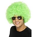 ieftine Machiaj Halloween-Peruci Sintetice Peruci de Costum Buclat Buclat Perucă Mediu Verde Păr Sintetic Perucă Americană Africană Verde