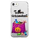 voordelige iPhone 6 hoesjes-hoesje Voor iPhone 7 / iPhone 7 Plus / iPhone 6s Plus iPhone SE / 5s Transparant / Patroon Achterkant Halloween Zacht TPU