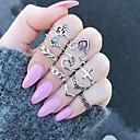 povoljno Naušnice-Žene Prsten Pinky Ring Srebro Legura dame Neobično Jedinstven dizajn Dar Dnevno Jewelry Leaf Shape Cvijet