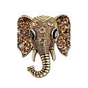 povoljno Broševi-Žene Broševi Slon Sa životinjama dame Personalized Indijanac Umjetno drago kamenje Glina Broš Jewelry Zlato Pink Za Dar Stage
