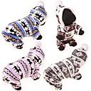 رخيصةأون خواتم-كلب البلوزات هوديس حللا الشتاء ملابس الكلاب أزرق زهري رمادي كوستيوم قطن الرنة كاجوال / يومي لطيف S M L XL XXL