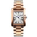 ieftine Ceasuri Damă-SKMEI Pentru femei femei Ceas de Mână ceas de aur Piața de ceas Japoneză Quartz Oțel inoxidabil Argint / Roz auriu 30 m Rezistent la Apă Cool Analog Lux Modă Elegant minimalist - Argintiu Roz auriu