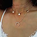 ieftine Brățări-Pentru femei Coliere cu Pandativ Lănțișoare MOON Semilună dublu corn femei Vintage Boem Modă Aliaj Auriu Argintiu Coliere Bijuterii Pentru Cadou Casual Stradă