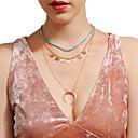 povoljno Remenje za sat Samsung-Žene Choker oglice Ogrlice s privjeskom Više slojeva MOON Više slojeva Legura Zlato Ogrlice Jewelry Za Party Dnevno
