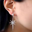 Women's Stud Earrings Drop Earrings AAA Cubic Zirconia Luxury Fashion Stainless Steel Zircon Star Jewelry Silver Party Gift Costume
