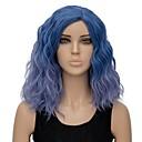 ieftine Moda Lolita-Peruci Sintetice Val de Apă Ondulat cu Apă Perucă Scurt Albastru Deschis Păr Sintetic Pentru femei Păr Ombre Albastru