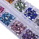 1 pcs Glitter Powder Nail Jewelry Rhinestones Fashionable Design / Sparkling / Crystal / Rhinestone Style nail art Manicure Pedicure Party / Party / Evening / Daily Elegant & Luxurious / Sparkle