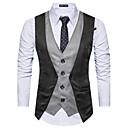 رخيصةأون ربطات عنق-رجالي مناسب للحفلات صوف كنزة, ألوان متناوبة قبعة القميص / بدون كم