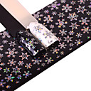 1 pcs Full Nail Stickers Foil Sticker nail art Manicure Pedicure Smooth Sticker / Luxury / Fashionable Design Glamorous Glitter / Nail Decals Christmas / Party / Daily