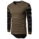 abordables Pulls & Cardigans pour Homme-Tee-shirt Homme, camouflage Sports Actif Col Arrondi Mince Noir / Manches Longues