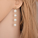 Women's Drop Earrings Hanging Earrings Long Floating Drop Cheap Ladies Simple Style Fashion Elegant everyday Imitation Pearl Earrings Jewelry Gold / Silver Party Casual