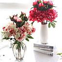 preiswerte Künstliche Blumen-Künstliche Blumen 1 Ast Europäisch Pfingstrosen Tisch-Blumen
