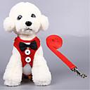رخيصةأون أدوات الفرن-قط كلب أربطة متنفس قابلة للطى لون سادة تيريليني أسود أحمر