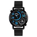 ieftine Benzi Lumină LED-SKMEI Bărbați Ceas de Mână Japoneză Quartz Oțel inoxidabil Negru 30 m Rezistent la Apă Creative Zone Duale de Timp Analog Lux Clasic Casual Modă - Negru Rosu Albastru