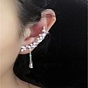 ieftine Cercei-Pentru femei Cristal Cercei Stud Perechi Desperecheați Cățărătorii de urechi Manşetă femei Personalizat Modă Elegant De Fiecare Zi Plastic Cristal cercei Bijuterii Argintiu Pentru Nuntă Casual