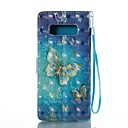 Case Samsung Galaxy Note 8 Wallet / Card Holder / Stand Full Body Cases Butterfly Hard PU Leather Note 8