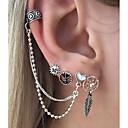 ieftine Ceasuri Damă-Pentru femei Cercei Dangle Cercei cu spirală mismatched Manşetă Inimă Prinzător de vise femei Rock cercei Bijuterii Argintiu Pentru Club Măr 6pcs