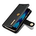 رخيصةأون حافظات / جرابات هواتف جالكسي A-غطاء من أجل Samsung Galaxy A3 (2017) / A5 (2017) / A7 (2017) محفظة / حامل البطاقات / قلب غطاء كامل للجسم لون سادة قاسي جلد أصلي