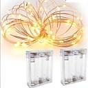 billige LED-stringlys-3M Lysslynger 30 LED Vanntett Batteri / IP65