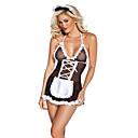 ieftine Machiaj Halloween-Pentru femei Costume menajeră Asistente Sex Costume Cosplay Bloc Culoare Fustă Jartiere / Spandex