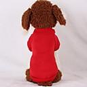 رخيصةأون ملابس وإكسسوارات الكلاب-كلب هوديس كنزة ملابس الكلاب لون سادة أحمر زهري أزرق فاتح بطانة فرو قطن كوستيوم من أجل ربيع & الصيف الشتاء كاجوال / يومي