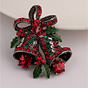 cheap Brooches-Women's Brooches Classic Bell Ladies Rhinestone Brooch Jewelry Gold For Christmas Gift