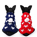 رخيصةأون ساعات ذكية-كلب البلوزات ملابس الكلاب نجوم أحمر أزرق Chinlon كوستيوم من أجل ربيع & الصيف الشتاء كاجوال / يومي