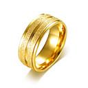 ieftine Inele-Bărbați Band Ring Inel de logodna Groove Inele Auriu Argintiu Teak Placat Auriu Rotund Simplu De Bază Nuntă Petrecere Bijuterii
