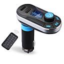 voordelige Bluetooth autokit/handsfree-bluetooth mp3-speler handsfree carkit aux handsfree fm-zender met dubbele usb mp3 sd lcd autolader
